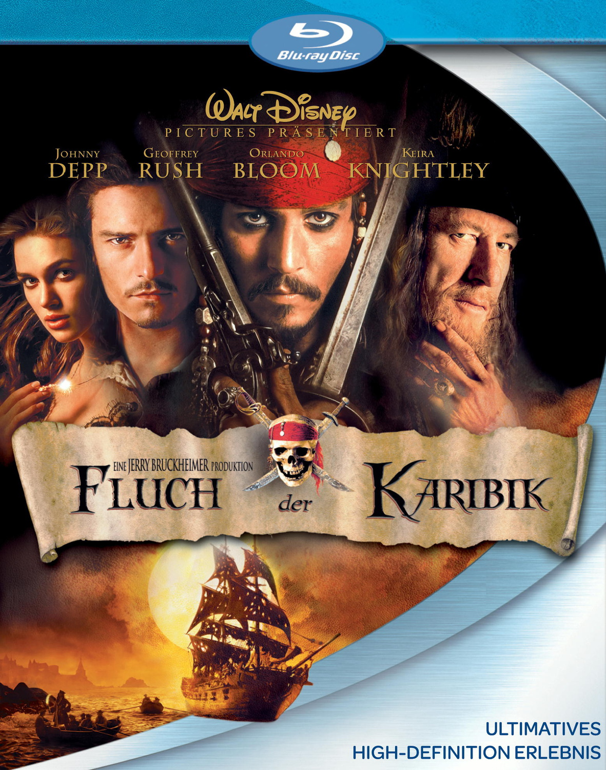 fluch der karibik 2 discs gore verbinski blu ray. Black Bedroom Furniture Sets. Home Design Ideas